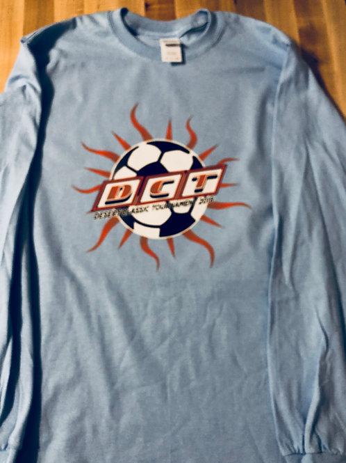 DCT Lt. Blue Long Sleeve T-Shirt w/Sunray Logo