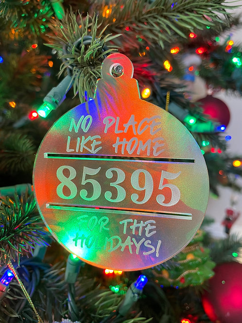 Customizable No Place Like Home Ornament