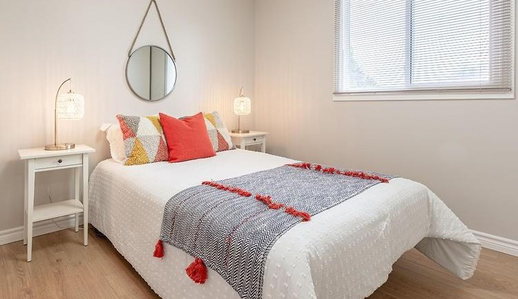 Guest Room Staged by Birch+Co Home Staging