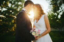 Bride and Groom Forehead Touching | Unforgettable Events
