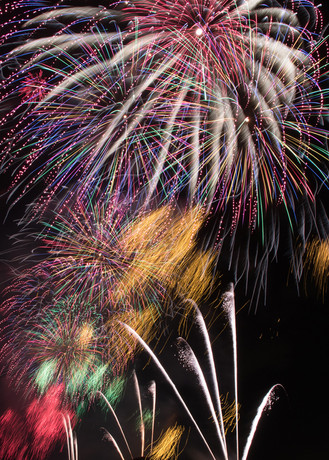 Colorful and splendid fireworks