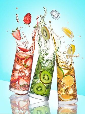 3 fruits sparkling wawter with splash
