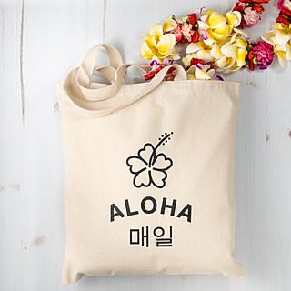 Aloha tote bag photography