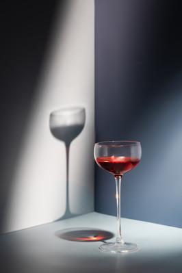 Wine glass still life photography