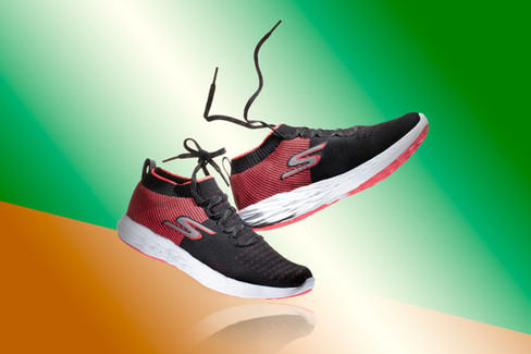 Skecher Female Running Shoes with flying shoelaces, hawaii product photography