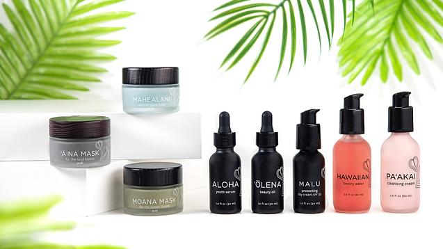 Honua Hawaiian beauty skincare products, Honolulu advertising product photographer