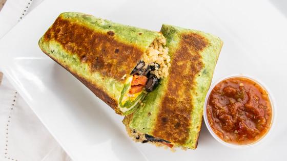 Maui Portuguese Sausage Breakfast Burrit, hawaii food & drink photography