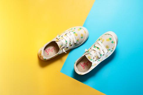 Walking shoes, hawaii product photography