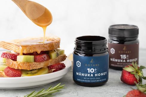 Breakfast and honey photography