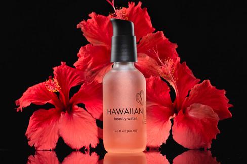 Hawaiian Beauty Water, hawaii product advertising photography