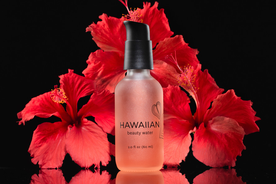 Beauty Water, Hawaii Advertising Product & Food Photography