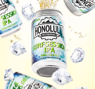 honolulu surf session ipa, hawaii product photography