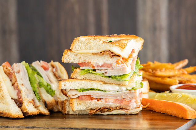 Special Clubhouse Sandwich - Side Fries, hawaii food & drink photography