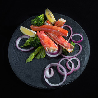 Mouthwatering lobster with red onion , hawaii food & drink photography