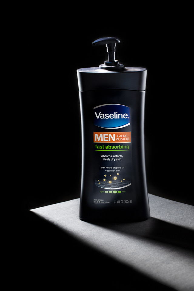 vaseline men lotion, hawaii beauty skincare, hawaii advertising product photography