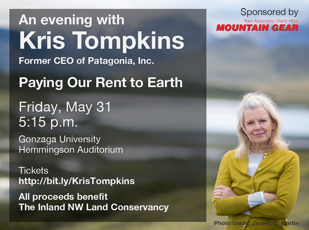 An evening with Kris Tompkins promotion