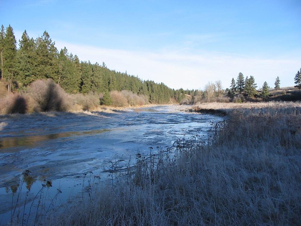 Hangman Creek flows through the Bryant Sayre easement