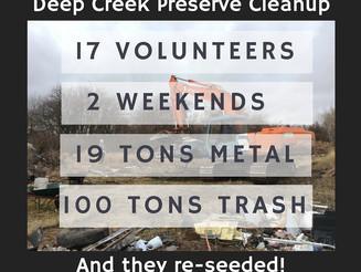 Work Days at the Deep Creek Preserve - October 31 & November 7