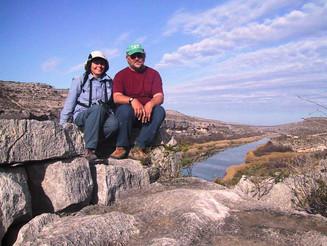 Volunteers Jim and Bea Harrison - Outstanding in their Field