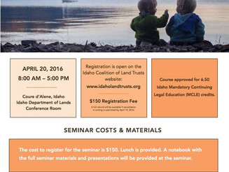 Conservation Easement Seminar - for Real Estate, Financial, and Legal Professionals