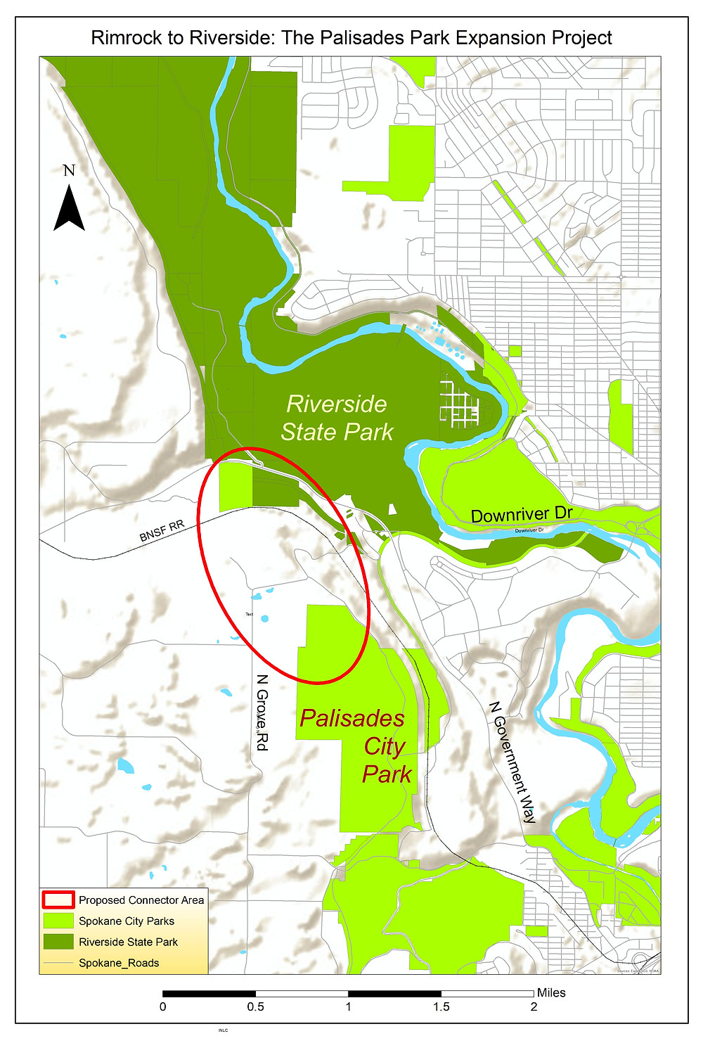 Map of Rimrock to Riverside project area