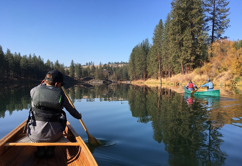 Canoeing on the Spokane River