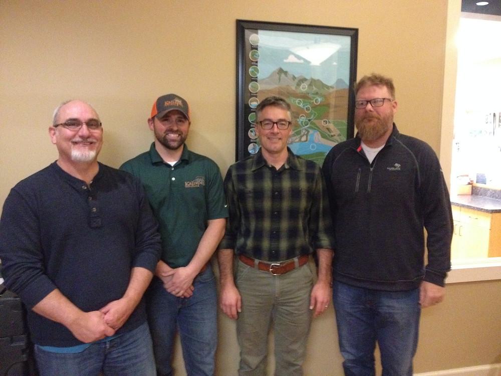 Ray Entz (KNRD), Mike Lithgow (KNRD), Dave Schaub (INLC), Deane Osterman (KNRD)