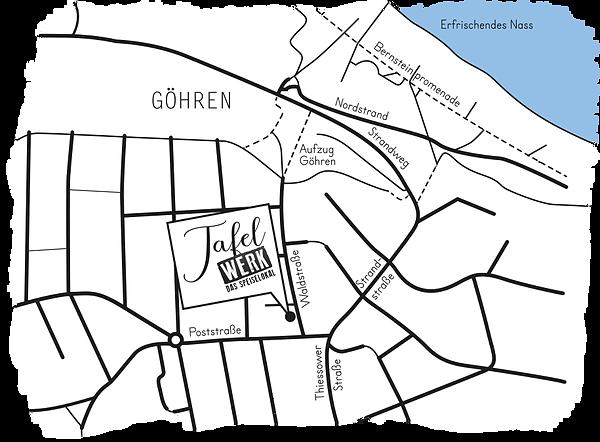Karte Tafelwerk Göhren