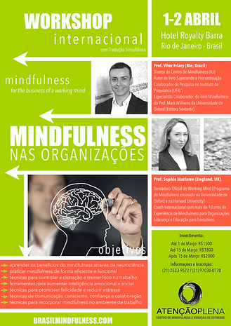 Workshop Internacional Mindfulness for Business (Organizações)