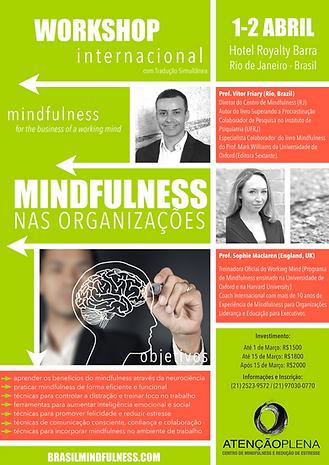 Workshop Internacional Mindfulness for Business (Organizações)