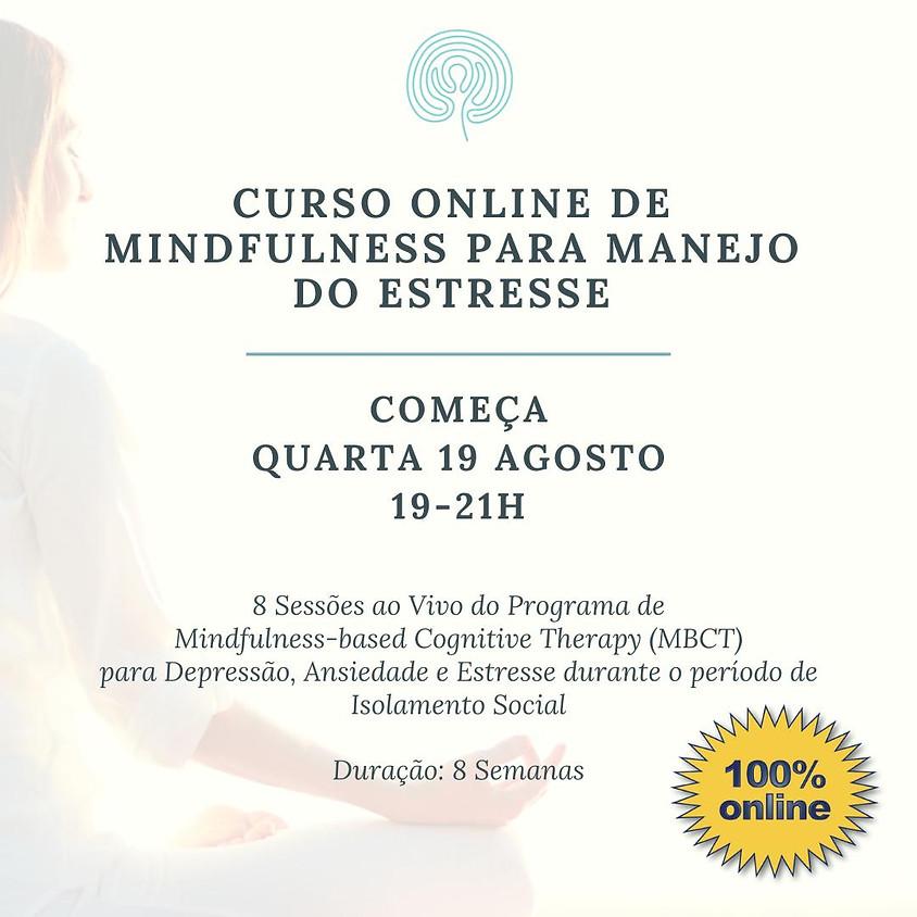 Curso Online de Mindfulness para Manejo do Estresse (pra todo o Brasil) Edição 103