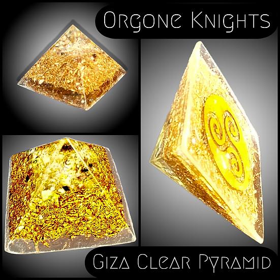 Clear Giza Pyramid - Small - 50mm-60mm