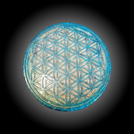 "Ocean 7"" Flower of Life Copper Charging Plate"