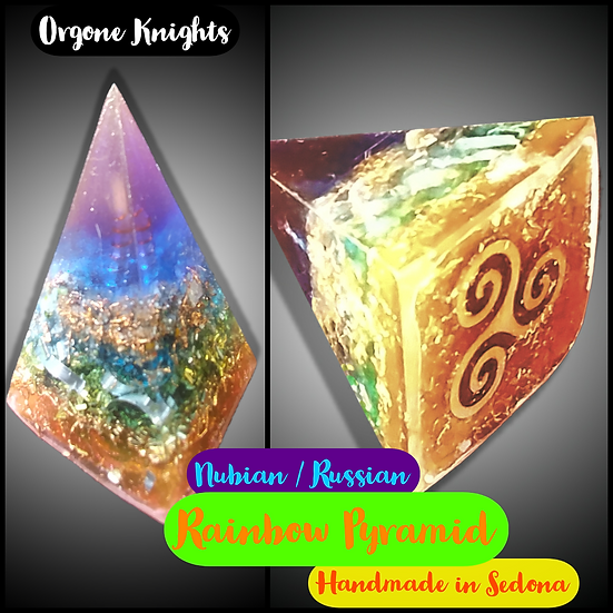 Rainbow Nubian/ Russian Pyramid - Small -  40mm-45mm