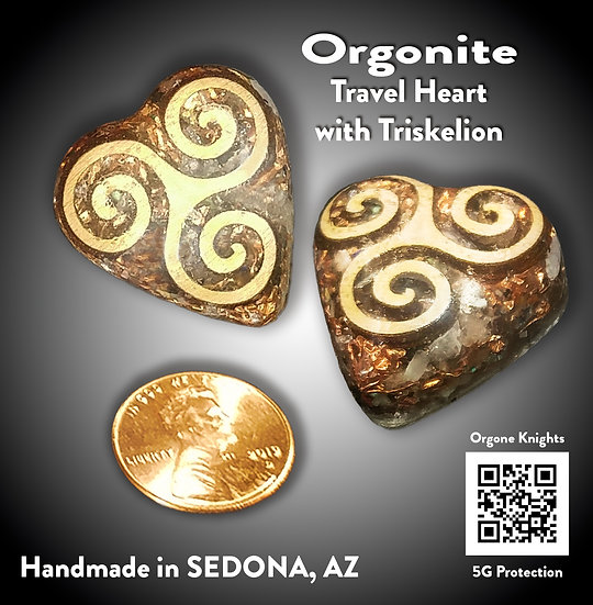 A Travel Heart with a Triskelion - Single Portable Room Protector