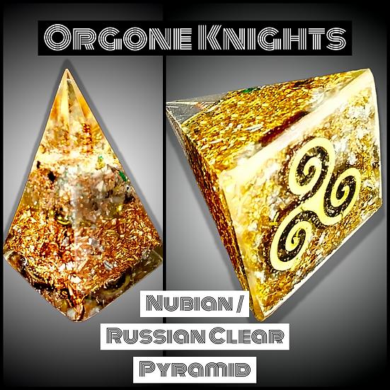 Clear Nubian/ Russian Pyramid - Small -  40mm-45mm