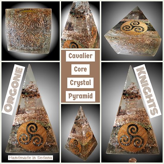 Cavalier Core Crystal Pyramid - Huge 140mm - Nubian / Russian Pyramid