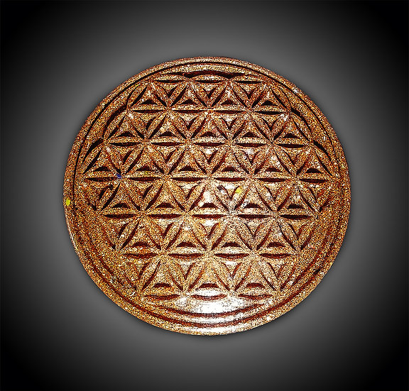 """7"""" Flower of Life Copper Charging Plate"""
