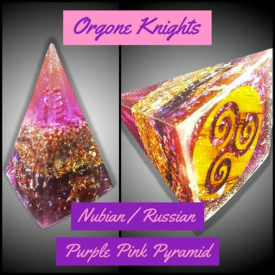 Purple/Pink Nubian/ Russian Pyramid - Small -  40mm-45mm