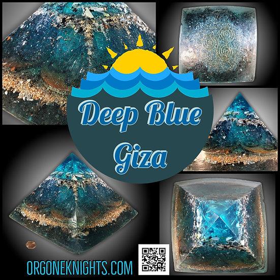 Deep Blue Giza Orgonite Pyramid