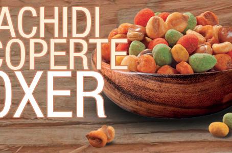 "Novità Snack Salati: Arachidi salate ricoperte ""Foxer"""