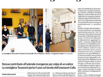 """La consigliera regionale Katia Tarasconi ed il quotidiano """"Libertà"""" per Fun Food Italia."""