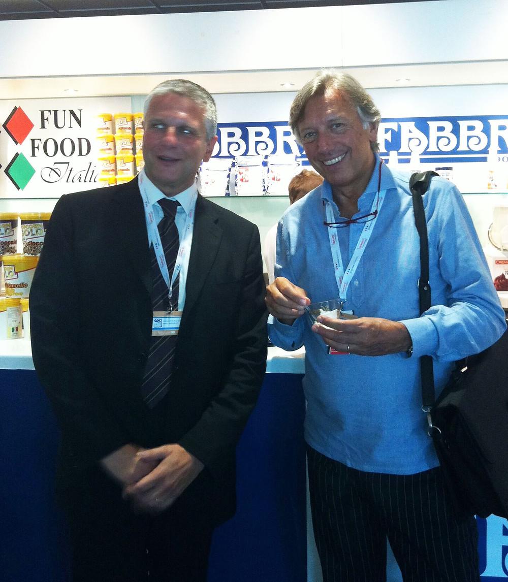 Paolo Protti (a destra) con Francesco Boriani