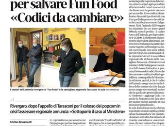 L'impegno dell'assessore regionale Colla a favore di Fun Food Italia.