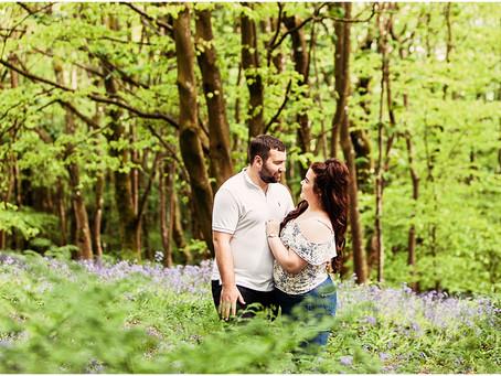 JESSICA & SAM'S BEAUTIFUL BLUEBELL WOODLAND PRE WEDDING SHOOT | MUNCASTER CASTLE, CUMBRIA
