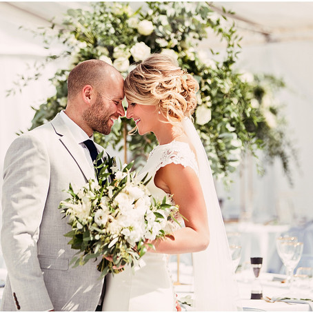 GEORGE & MIKE'S ROMANTIC AND GLAMOROUS MARQUEE WEDDING AT HOME | CUMBRIA