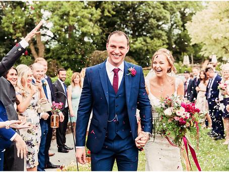 EMMA & JOSH'S COLOURFULLY FLORAL BARN WEDDING AT THREE HILLS BARN | CUMBRIA