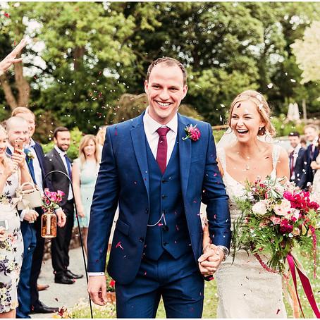 EMMA & JOSH'S COLOURFULLY FLORAL BARN WEDDING AT THREE HILLS BARN   CUMBRIA