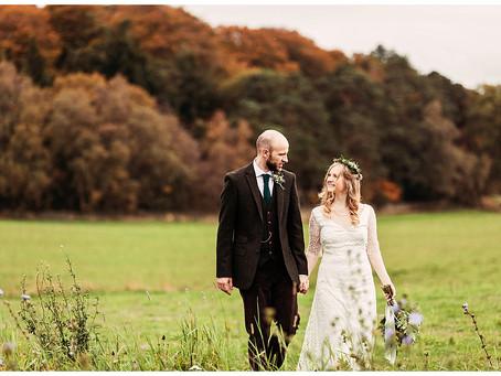 CARAGH & BEN'S ENCHANTING FALL WOODLAND WEDDING AT HEALEY BARN | NORTHUMBERLAND