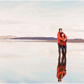 BECKY & PHIL'S STUNNINGLY SCENIC PRE WEDDING SHOOT AT HEST BANK BEACH   LANCASHIRE